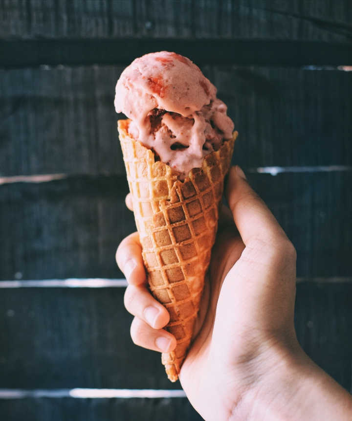 Balsamic Strawberry Ice-cream! (Dairy free and refined sugar-free)