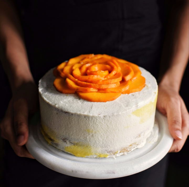 Coconut and Mango mousse cake!