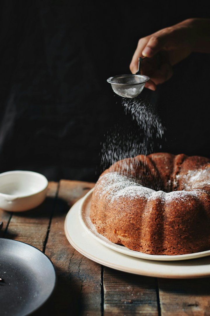 Pear and Cream Cheese Bundt Cake.
