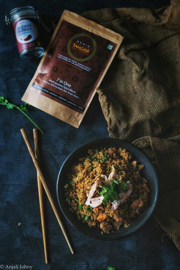 Mediterranean Chicken Fried-rice(Quinoa)
