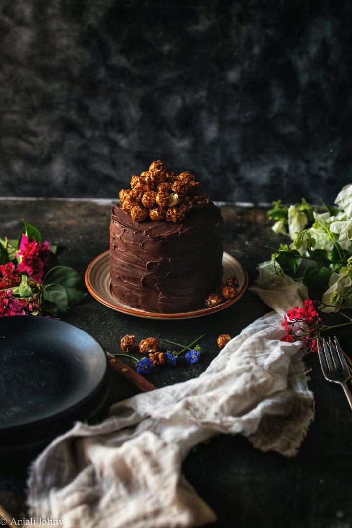 Pumpkin Spice Latte Cake with CappuccinoPopcorn